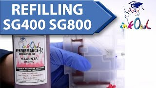 How to Refill SG400 SG800 Dye Sublimation Printer with InkOwl Performance-R Refillable Cartridges