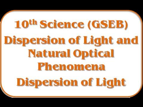 Dispersion of Light – Std 10th Science(GSEB)