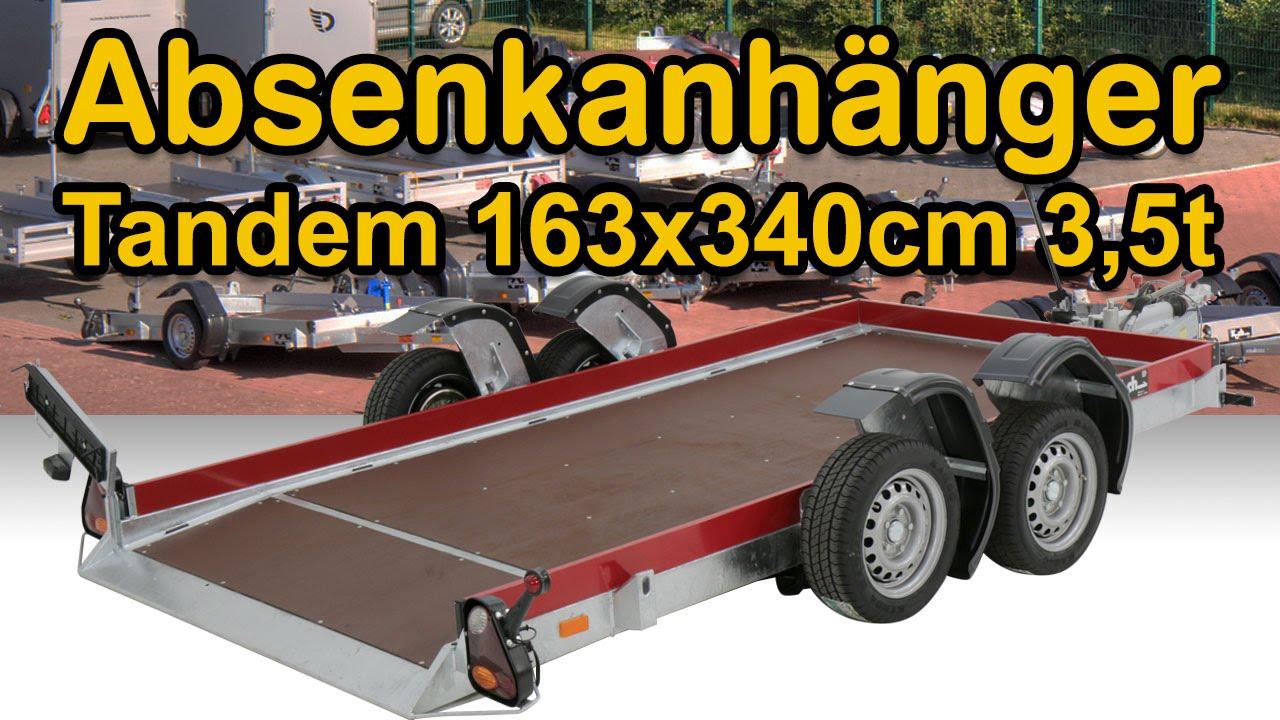 absenkanh nger tandem 163x340cm 3 5t bei koch pkw. Black Bedroom Furniture Sets. Home Design Ideas