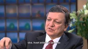José Manuel Barroso, President of the European Commission. Interview for the Nobel Peace Center.