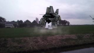 After Effects Spaceship landing and takeoff