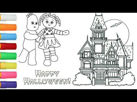 Coloring Halloween Haunted House With Upsay Daisy, Iggle Piggle L In The Night Garden L Kids Colors