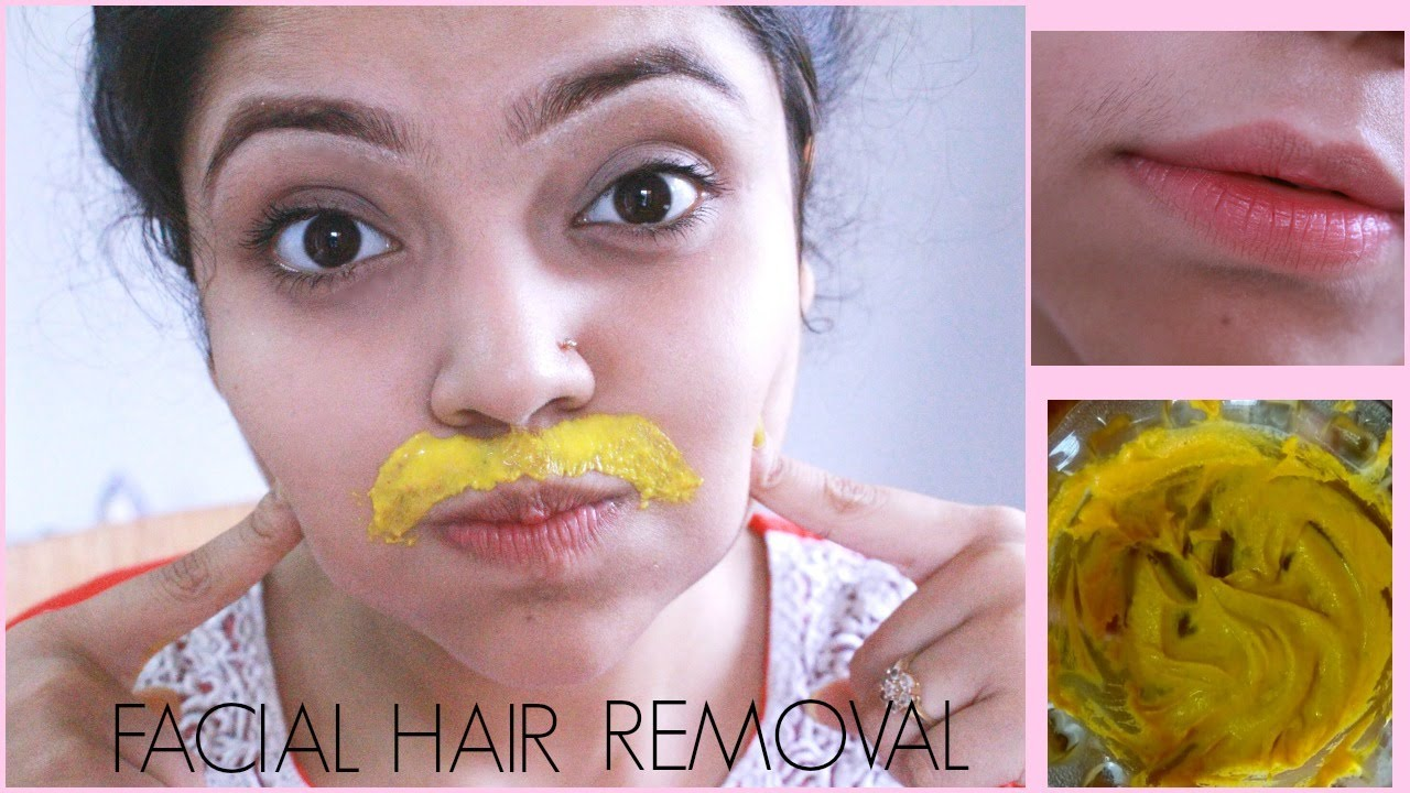Diy facial hair removal mask naturally permanently at home youtube youtube premium solutioingenieria