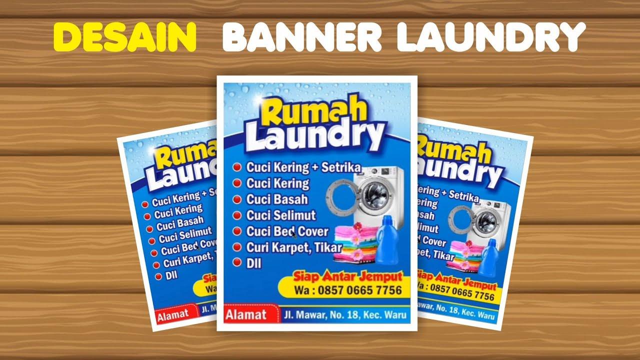 Belajar Desain Coreldraw Cara Membuat Banner Laundry Youtube