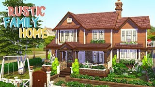 RUSTIC FAMILY HOME | The Sims 4 | Speed Build