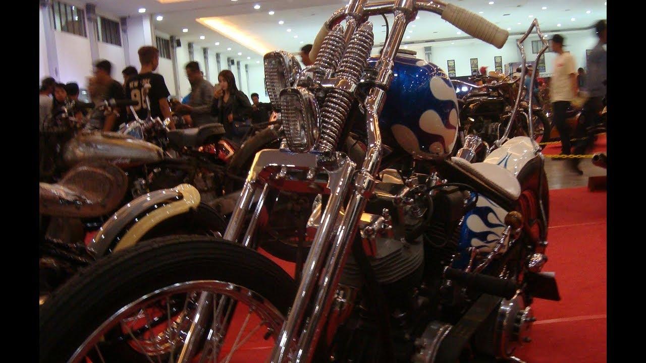 Harley Davidson Shovelhead Custom Chopper Hardtail Rigid Frame - YouTube