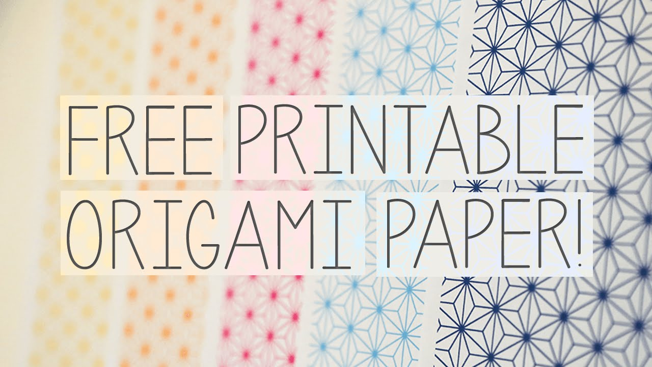 Free Printable Origami Papers From Paper Kawaii