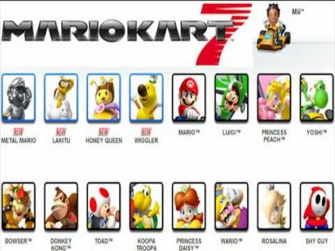 Mario Kart 7 Who Is The Best Character Youtube