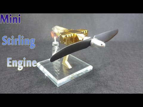 Assembling Mini Stirling Engine Model Educational Toy Kits - v2