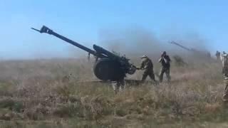 Луганск  11 08 2014 война Обстрел Ополченцы сепаратисты артиллеристы в дейсвии  Луганск Донецк АТО О