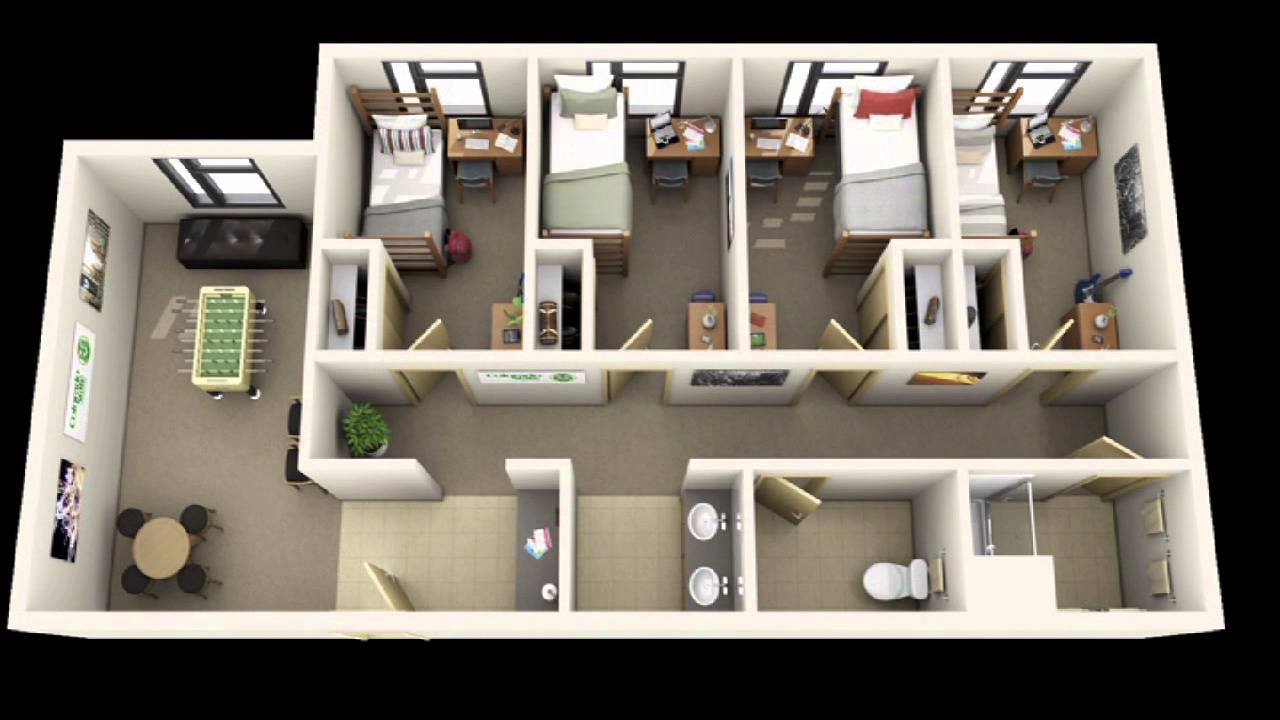 3d floor plans for apartments 3d virtual tours youtube. Black Bedroom Furniture Sets. Home Design Ideas