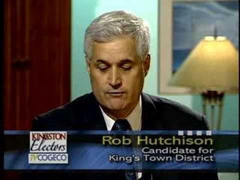 Rob Hutchison, King's Town District Candidate, Kingston.
