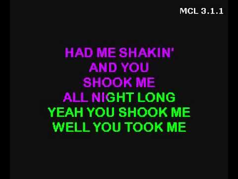 AC DC karaoke  You Shook Me All Night Long