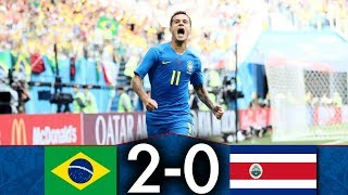 Brésil 🇧🇷 vs 🇨🇷 Costa Rica | 2-0 | Résumé Français | CDM Groupe A | Le film du match #4