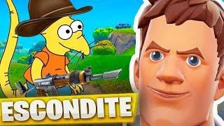 PLAYING HIDE avec un enfant 'HACKER' à FORTNITE