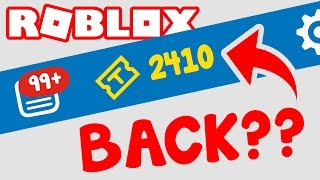 TIX ARE BACK IN ROBLOX??
