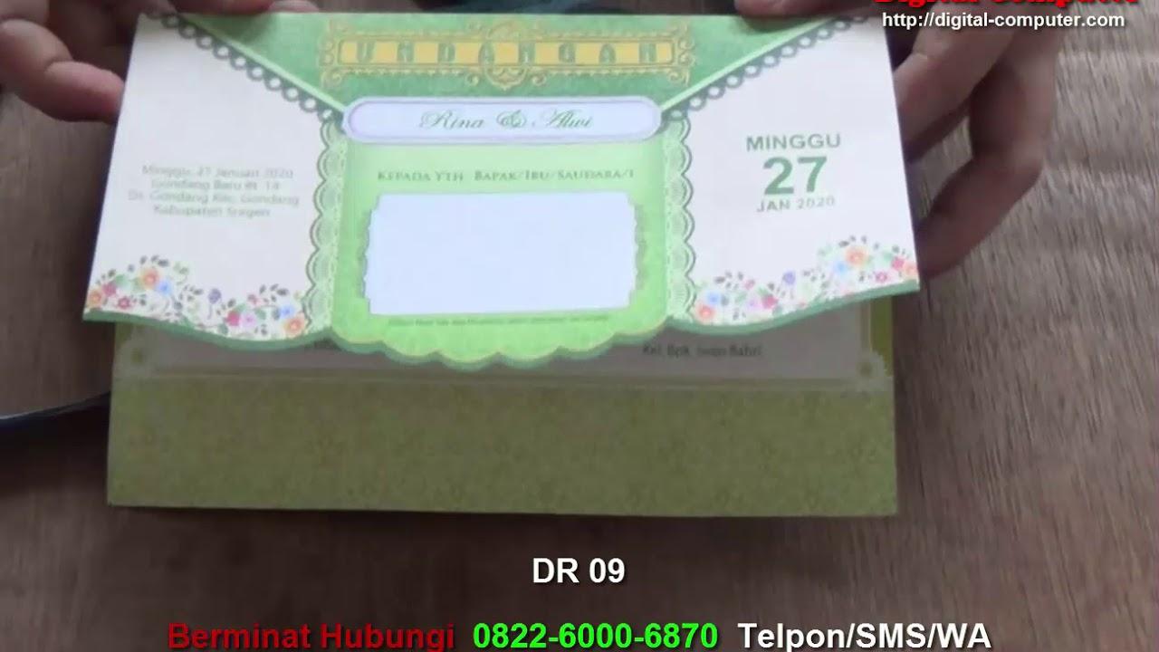 Contoh Undangan Pernikahan Dr 09 Youtube