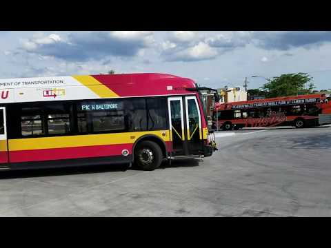 MTA MARYLAND:Baltimore Link Evening Bus Action@West Baltimore Marc Train Station