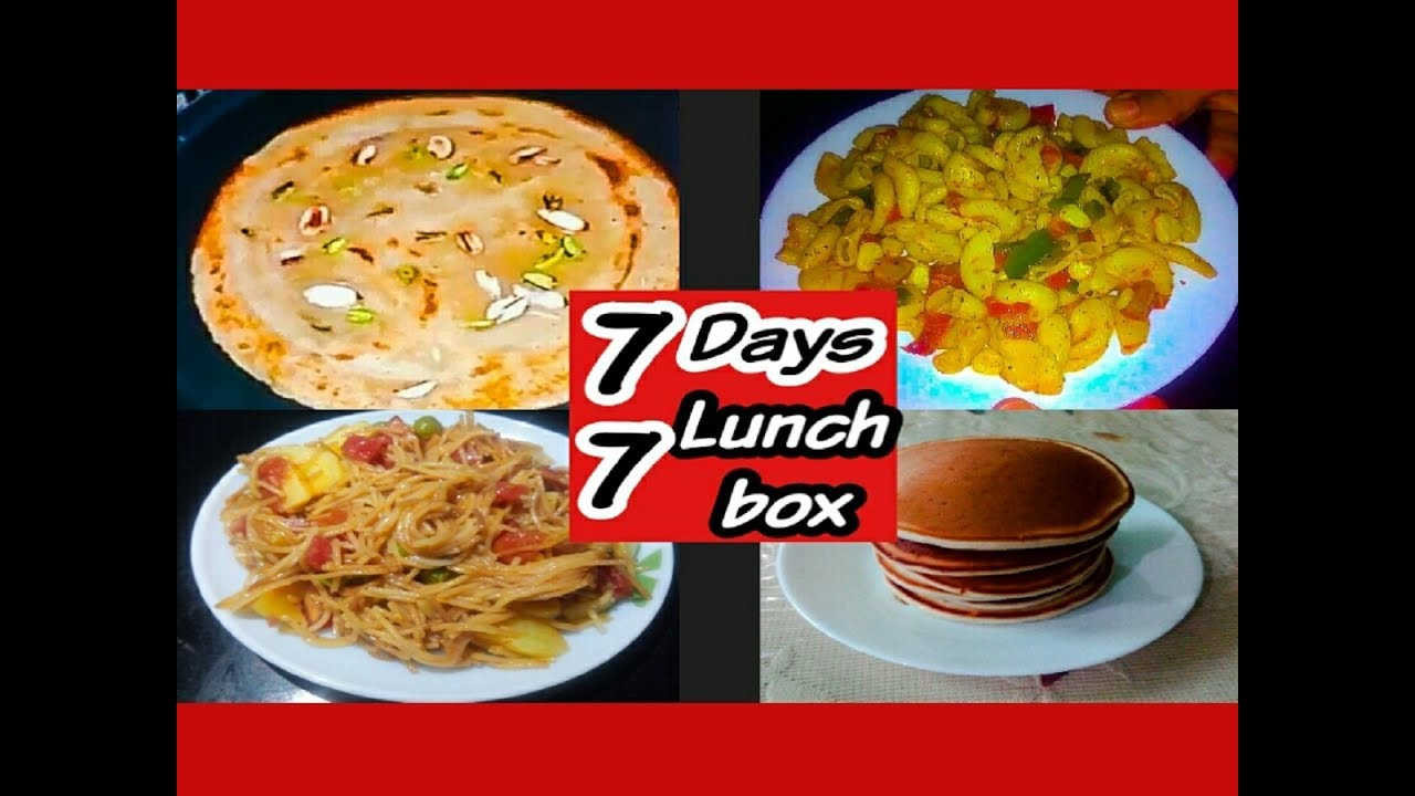 7 Days Lunchbox RecipesKids Lunch Box Breakfast RecipesBreakfast Recipes