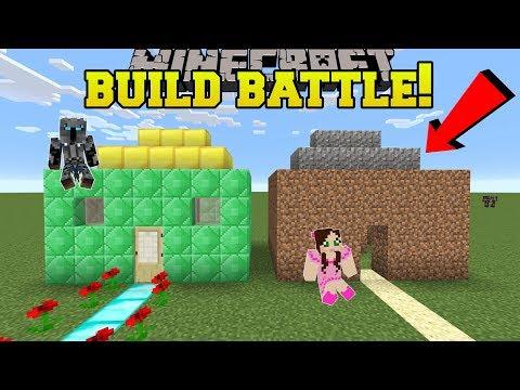 Minecraft: NOOB VS PRO!!! - BUILD BATTLE WITH NORMAL BLOCKS! - Mini-Game thumbnail