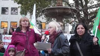 """""""Kriegsverbrecher Erdogan!"""" - Stoppt die türkische Invasion in Nordsyrien! - Demo (10.10.2019)"""