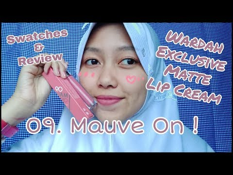 review-wardah-exclusive-matte-lip-cream-#no.9-mauve-on-!
