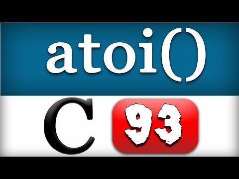 93 | atoi() Function in C Programming Language Video Tutorial