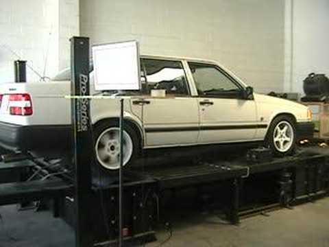 1991 volvo 940 turbo dyno pull three - YouTube