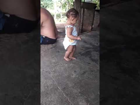 Cute little Panamanian baby girl