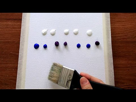 Winter Landscape|Easy Simple Acrylic Painting techniques #145|Satisfying Daily Abstract