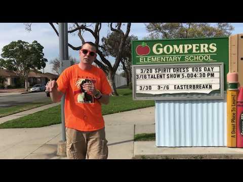 Mr. Peace Visits Samuel Gompers Elementary School in Lakewood, California
