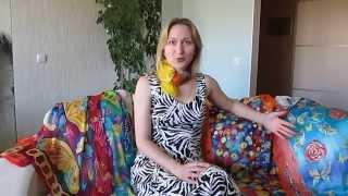Платок из натурального шелка расписан вручную от Екатерины Коваленко; купить платок(, 2014-03-28T17:04:07.000Z)