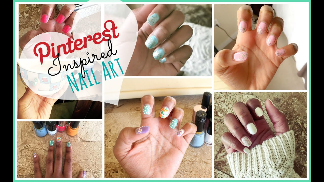 Diy Pinterest Inspired Nail Art Spring And Floral Edition 2015