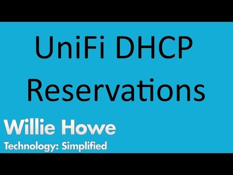 UniFi USG DHCP Reservations - YouTube