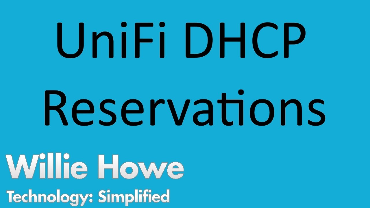 UniFi USG DHCP Reservations