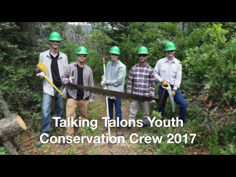 Talking Talons Youth Conservation Crew 2017 @ work with the USFS and Friends of the Sandia Mountains