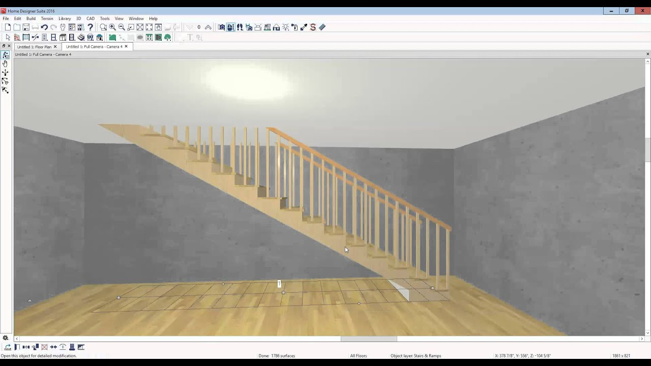 controlling stairs in home designer suite (etc) - youtube