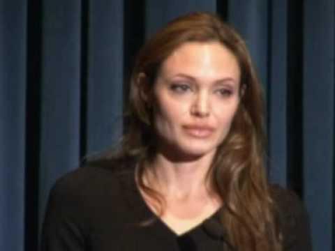 Angelina Jolie gets emotional on World Refugee Day