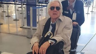 Donald Sutherland In A WHEELCHAIR At LAX!