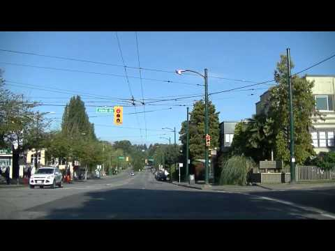 West 4th Avenue (Kitsilano) in VANCOUVER CANADA & Granville Island driving drive sightseeing