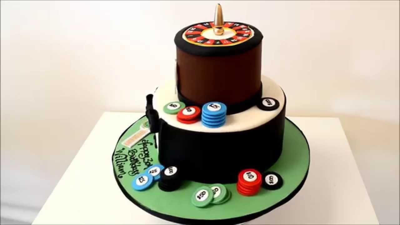 Casino Theme Cake Demonstration Youtube