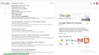 Cách cài đặt google analytics và google search console cho website wordpress | Nguyễn Tấn Cường