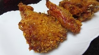 Homemade Healthy Oven Fried Chicken Recipe / 烤鸡腿
