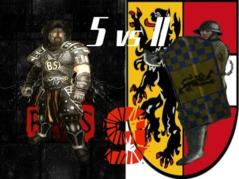 Mount & Blade Fianna Mercenaries BratstvoStali 5 vs 11 XIV century