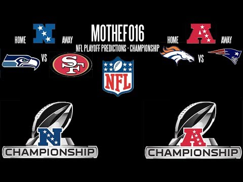 NFL Championship Round Playoffs Predictions 2013/14!