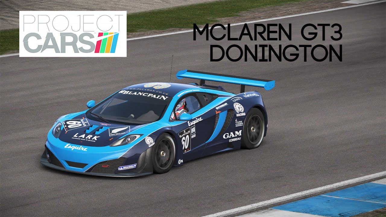 Project Cars Mclaren Mp4 12c Gt3 Donington Park 60 Fps Youtube