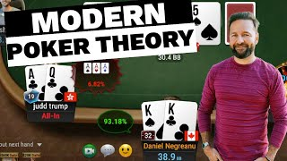 How to Use MOĎERN POKER THEORY - $25,000 Buy-in Super High Roller!