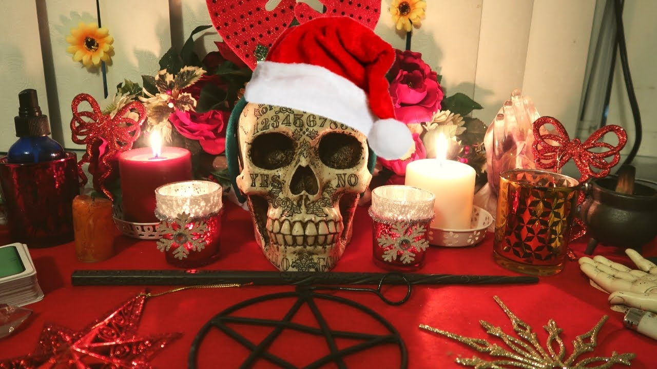 Wicca Christmas.Easy Wiccan Altar