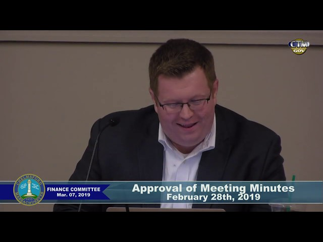 Chelmsford Finance Committee – March 7, 2019