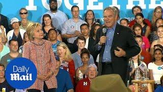 Senator Tim Kaine campaigns Hillary Clinton in Virginia - Daily Mail